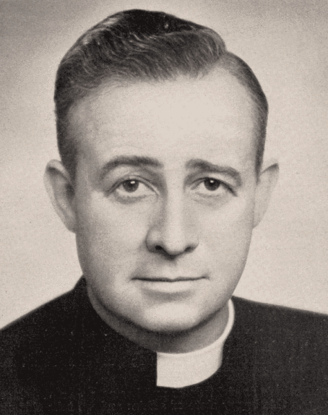 Fr (later Archbishop) Eris O'Brien, one of the Society founders.