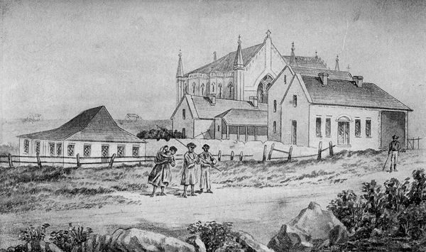 St Mary's Chapel and Precincts, Sydney, in the 1830s.
