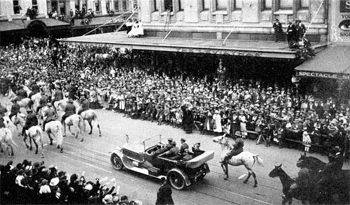 St Patrick's Day Parade Melbourne, in the early 1920s.
